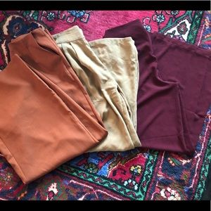 Bundle of 3 Wide Leg Pants